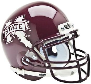 Mississippi State Bulldogs Mini Authentic Schutt Helmet