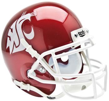 Washington State Cougars Mini Authentic Schutt Helmet
