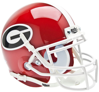 Georgia Bulldogs Mini Speed Football Helmet