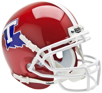 Louisiana Tech Bulldogs Mini Authentic Schutt Helmet