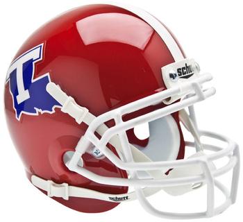 Louisiana Tech Bulldogs Mini Authentic Schutt Helmet