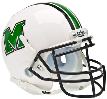 Marshall Thundering Herd Mini Authentic Schutt Helmet