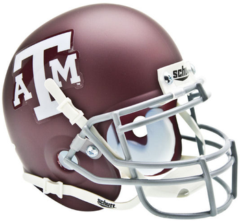 Texas A&M Aggies Mini Authentic Schutt Helmet