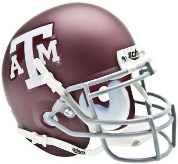 Texas A&M Aggies Mini Authentic Schutt Helmet