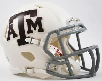 Texas A&M Aggies Mini Authentic Schutt White Helmet