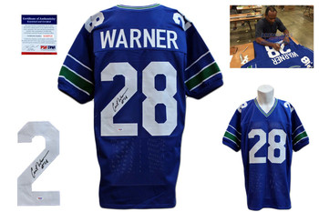 Curt Warner Signed Jersey - PSA DNA - Seattle Seahawks Autographed