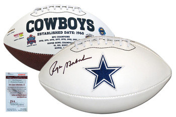 Roger Staubach Autographed Signed Dallas Cowboys Football - JSA Authentic