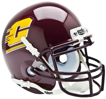 Central Michigan Chippewas Mini Authentic Schutt Helmet
