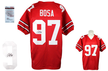 Joey Bosa Autographed Signed Jersey - Red - JSA Authentic