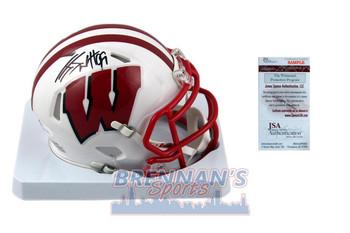 JJ Watt Signed Wisconsin Badgers Mini-Helmet - JSA Witness Autographed