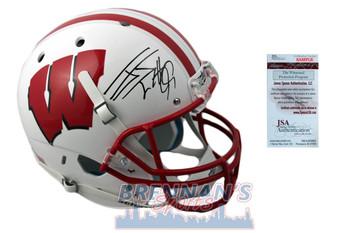 JJ Watt Signed Wisconsin Badgers Full Size Rep Helmet - JSA Witness Autographed