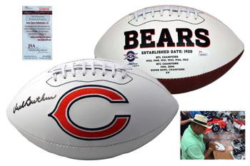 Dick Butkus Signed Football - Chicago Bears Logo Ball - JSA Witnessed