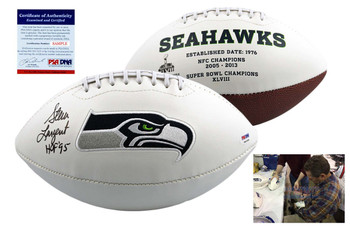 Steve Largent Signed Seattle Seahawks Logo Football - PSA DNA Autographed