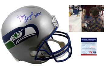 Steve Largent Autographed Seattle Seahawks Full Size Helmet - PSA