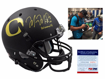 Marcus Mariota Autographed Oregon Ducks Full Size Rep Helmet - Black
