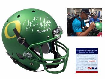 Marcus Mariota Autographed Oregon Ducks Full Size Rep Helmet - Green - Beckett Authentic