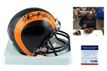 Eric Dickerson Autographed Signed Los Angeles Rams Mini Helmet - PSA