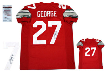 Eddie George Autographed Signed Jersey - Red - JSA Authentic