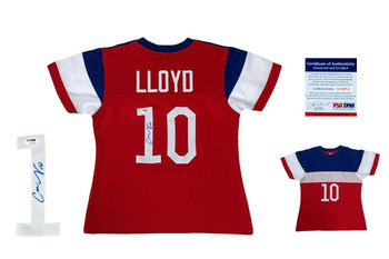 Carli Lloyd Autographed Signed USA Jersey - Red-White-Blue - Beckett