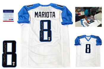 Marcus Mariota Autographed Signed Jersey - Beckett Authentic - White
