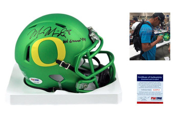 Marcus Mariota Autographed Oregon Ducks Mini Helmet - Beckett Authentic - Green