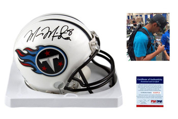 Marcus Mariota Autographed Signed Tennessee Titans Mini Helmet - JSA Authentic