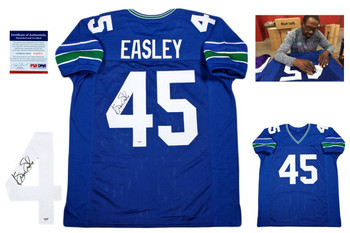 Kenny Easley Autographed Jersey - Royal - PSA DNA Authentic