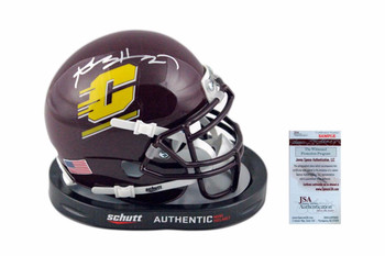 Antonio Brown Autographed Mini-Helmet - JSA Witnessed - Central Michigan Chippewas