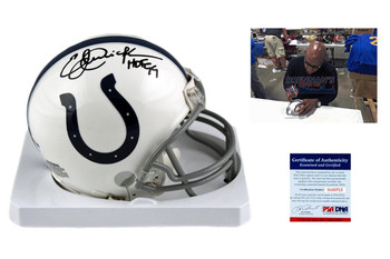 Eric Dickerson Autographed Indianapolis Colts Mini Helmet - PSA DNA Authentic