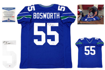 Brian Bosworth Autographed Signed Jersey - Royal - Beckett Authentic
