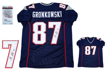 Rob Gronkowski Autographed Jersey - Navy - JSA Authentic