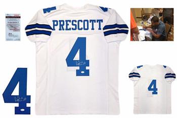 Dak Prescott Autographed Signed Jersey - White - JSA Authentic