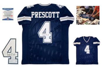 Dak Prescott Autographed Signed Jersey - Navy - Beckett Authentic