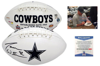 Jason Witten Autographed Signed Dallas Cowboys Logo Football - JSA Authentic