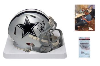 Dak Prescott Signed Speed Mini Helmet - JSA Witness - Dallas Cowboys Autographed
