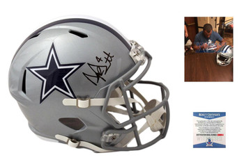 Dak Prescott Signed Speed Rep Helmet - Beckett - Dallas Cowboys Autographed