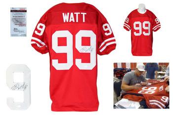 JJ Watt Signed Jersey - JSA Witness - Wisconsin Badgers Autrographed