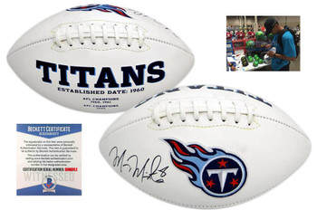 Marcus Mariota Autographed Signed Tennessee Titans Football - Beckett Authentic