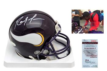 Randy Moss Signed Minnesota Vikings Mini Helmet - JSA Autographed