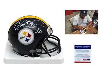 Jerome Bettis Autographed Signed Pittsburgh Steelers Mini Helmet - PSA