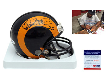 Jerome Bettis Autographed Signed Los Angeles Rams Mini Helmet - PSA