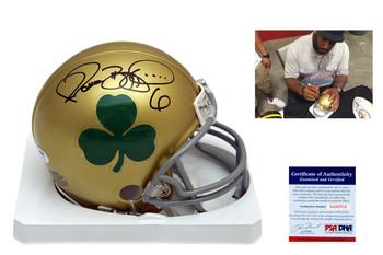 Jerome Bettis Autographed Signed Notre Dame Fighting Irish Mini Helmet - PSA