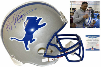 Barry Sanders Autographed Signed Detroit Lions Full Size Replica Helmet - Beckett