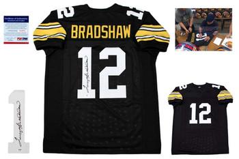 Terry Bradshaw Autographed Signed Jersey - Black - JSA Authentic