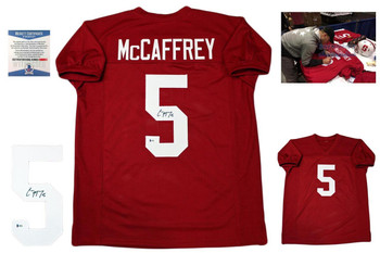 Christian McCaffrey Autographed Signed Jersey - Beckett Authentic - Stanford