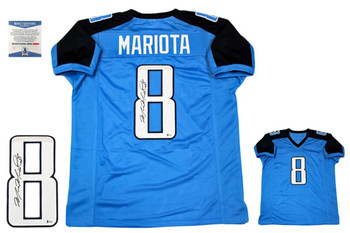 Marcus Mariota Autographed Signed Jersey - Beckett Authentic - Blue