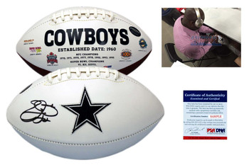 Emmitt Smith Signed Dallas Cowboys Football - Beckett Authentic