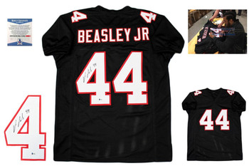 Vic Beasley Autographed Signed Jersey - Black - Beckett Authentic