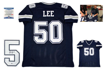 Sean Lee Autographed Signed Jersey - Navy - Beckett Authentic