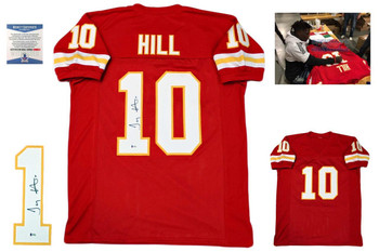 Tyreek Hill Autographed Signed Jersey - Red - Beckett Authentic